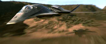 The Stealth Bomber from the movie Stealth