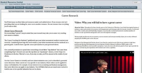 The most extensive Career Research portal on the web - and easy to use